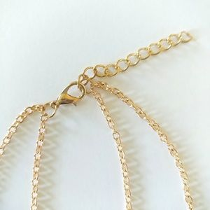 Jewelry - Double Layer Goldtone Bar Necklace